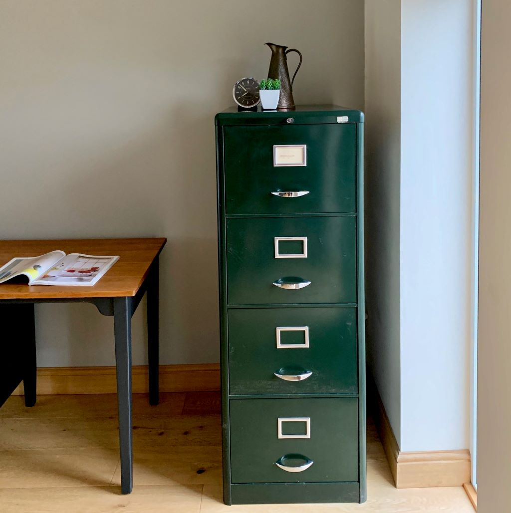 Mid Century 4 Drawer Steel Filing Cabinet By Milner Antique Vintage And Retro Furniture