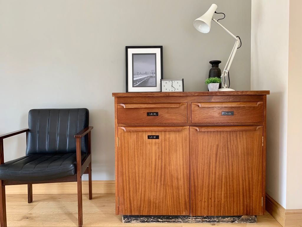 1960's Science Lab Double Cabinet - Antique, Vintage and ...